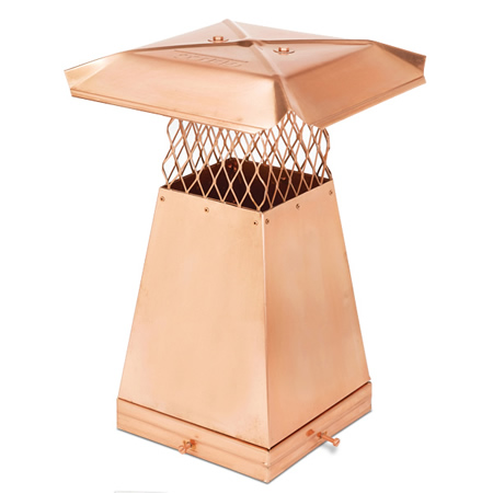 "13"" x 13"" x 1' tall Copper Flue Stretcher"
