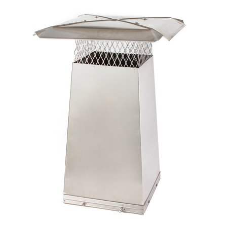 "13"" x 13"" x 1' tall Stainless Steel Flue Stretcher"